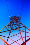 High voltage post - stock illustration