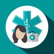 Medical care design. Health care icon. Colorful illustration Stock Illustration