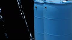 Rain barrell barrel water rainbarrel Stock Footage