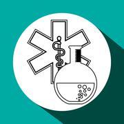 Medical care design. Health care icon. Colorful illustration - stock illustration