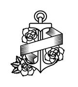 roses tattoo design - stock illustration