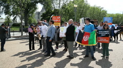 Hazaras Afghan Minority Protest at White House 5 Stock Footage