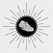 Runner shoes design - stock illustration