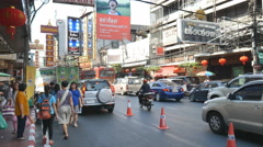 Editoria footage of China town business zone of china people in Thailand Stock Footage