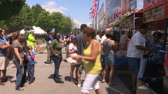 Pickering ribfest summer festival and crowds Stock Footage