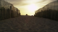 Miami Florida South Beach Sand Sunrise  5K Stock Video Footage Stock Footage