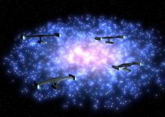 4 missile drone (stars) Stock Illustration