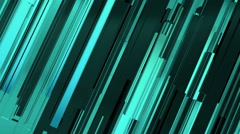 Abstract aquamarine lines background - stock footage