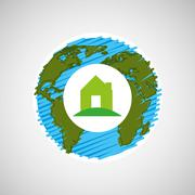 save the planet  design - stock illustration