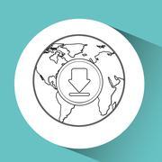 global communications design - stock illustration