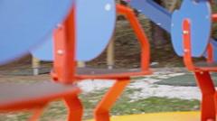 Merry-go-round pov low - stock footage