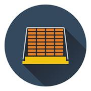 Icon of construction pallet Stock Illustration