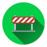 Icon of construction fence - stock illustration
