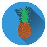 Pineapple icon - stock illustration