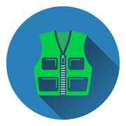 Icon of hunter vest Stock Illustration