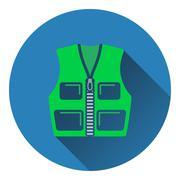 Icon of hunter vest - stock illustration