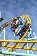 Northern`s California only spinning coaster, Santa Cruz, California Stock Photos