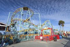 Northern`s California only spinning coaster, Santa Cruz, California - stock photo