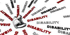 Disability - stock illustration