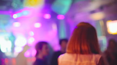 Night club. People dancing, music in performance. Soundlights Stock Footage