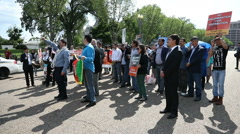 Hazaras Afghan Minority Protest at White House Stock Footage