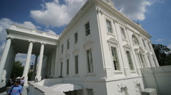 White House Wide Angle Pan Stock Footage