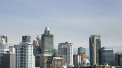 4video panning landscape view of building of business zone with blue sky in Bang - stock footage