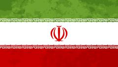 True proportions Iran flag with texture - stock illustration