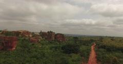 Africa Aerial rocky landscape side track 4K Stock Footage