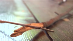Incence stick burning 03 Stock Footage