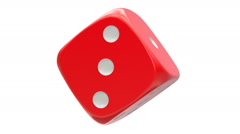 Rotated red dice, seamlessly loopable with alpha mask Stock Footage