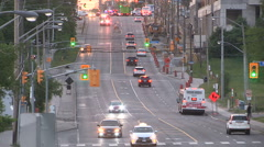 Firetruck racing to emergency call Stock Footage