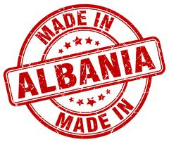 Made in Albania red grunge round stamp Stock Illustration