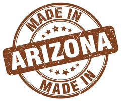 Made in Arizona brown grunge round stamp Stock Illustration