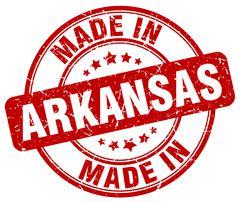 Made in Arkansas red grunge round stamp Stock Illustration