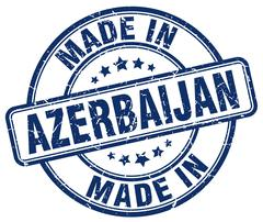 Made in Azerbaijan blue grunge round stamp Stock Illustration