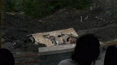 Farm buried under volcanic rock near Mount Etna, Sicily, Italy Stock Footage