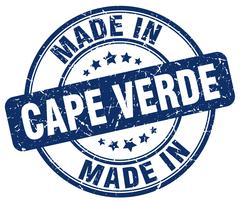 made in Cape Verde blue grunge round stamp - stock illustration