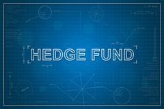 blueprint of hedge fund - stock photo