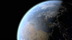 View of the day and night of planet earth - stock footage
