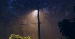 Several storm. Night. Rain. With Sound. Lightning - stock footage