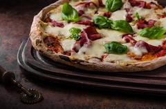 Pizza margherita original Stock Photos