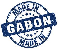 Made in Gabon blue grunge round stamp Stock Illustration