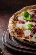 Pizza margherita original - stock photo