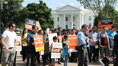 Hazaras Afghan Minority Protest at White House Slow Motion Stock Footage