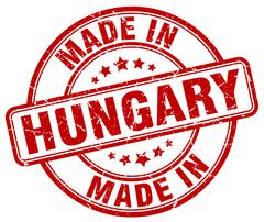 Made in Hungary red grunge round stamp Stock Illustration