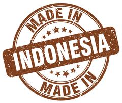 Made in Indonesia brown grunge round stamp Stock Illustration