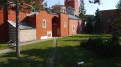 Old orthodox monastery Stock Footage