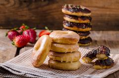 Homemade donuts two kinds Stock Photos