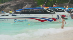 Tourists at Similans Stock Footage